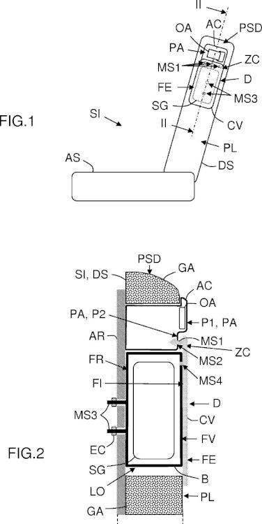 Dispositivo de seguridad de bolsa inflable y con doble solidarización, para un respaldo de asiento de vehículo.