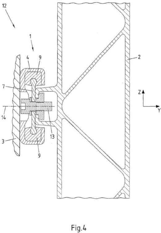 Elemento de unión, disposición de unión y vehículo sobre carriles.