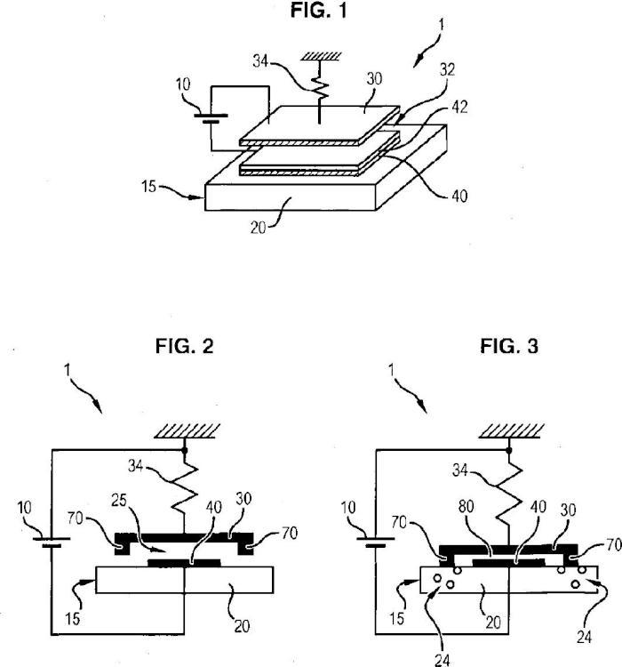 Microsistemas electromecánicos con separaciones de aire.