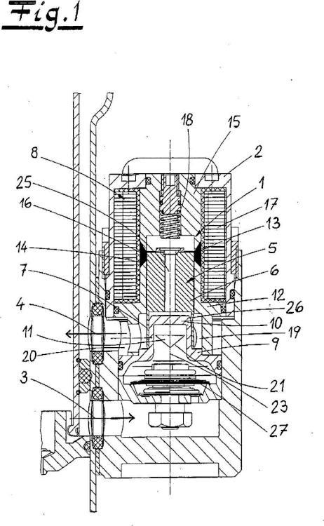 Válvula de amortiguación para un amortiguador hidráulico de vibraciones.