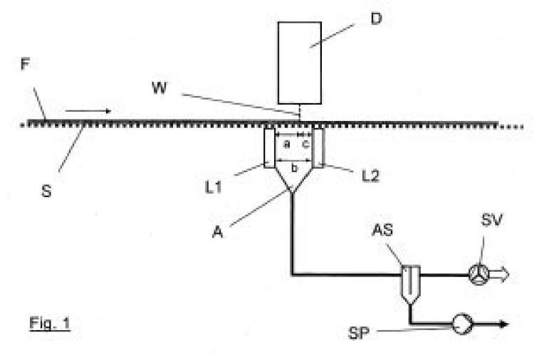 Dispositivo para solidificar una banda de material.