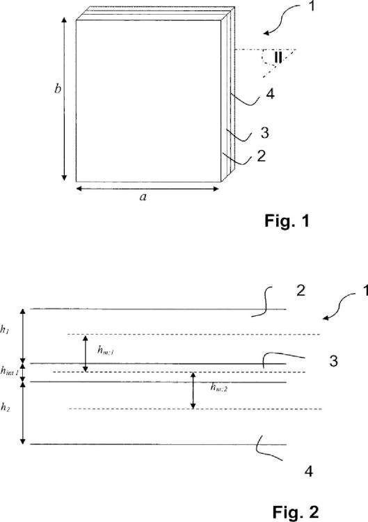 Procedimiento de fabricación de un elemento de acristalamiento laminado.