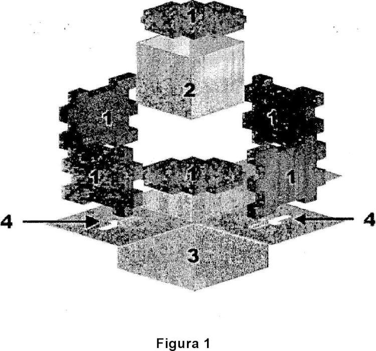 Caja-contenedor ensamblada isoterma.