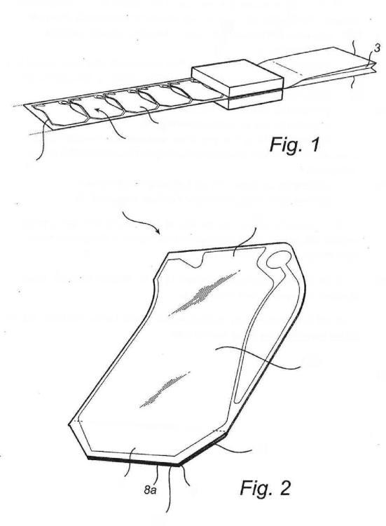 Envase así como dispositivo y método para el llenado aséptico del envase.