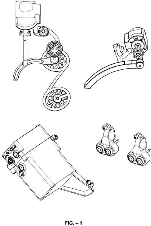 Dispositivo de cambio de desarrollo para bicicletas movido por actuadores lineales controlados electrónicamente y con procesador de radio frecuencia.