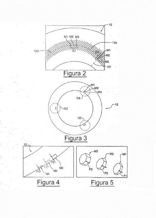 Compresor centrífugo equipado con un marcador de medición de desgaste y procedimiento de seguimiento de desgaste utilizando este marcador.