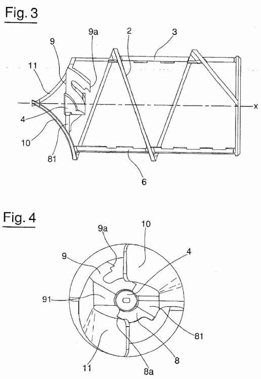 Dispositivo para mover un producto, en particular para productos fluidos y/o pastosos.