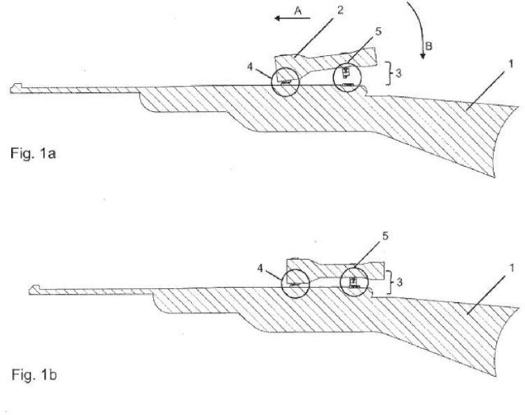 Sistema de montaje de mira telescópica para un arma de fuego.