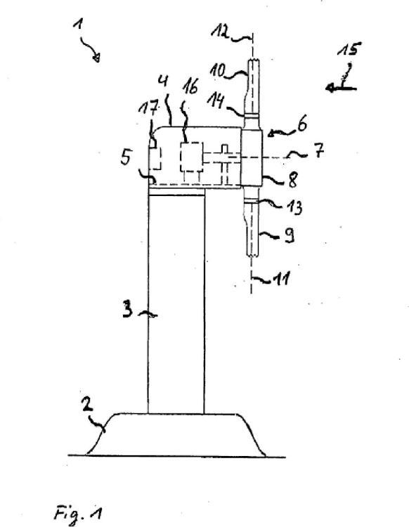 Dispositivo de limpieza de una instalación sensora óptica para medir cargas aerodinámicas de una pala de rotor de una central eólica.