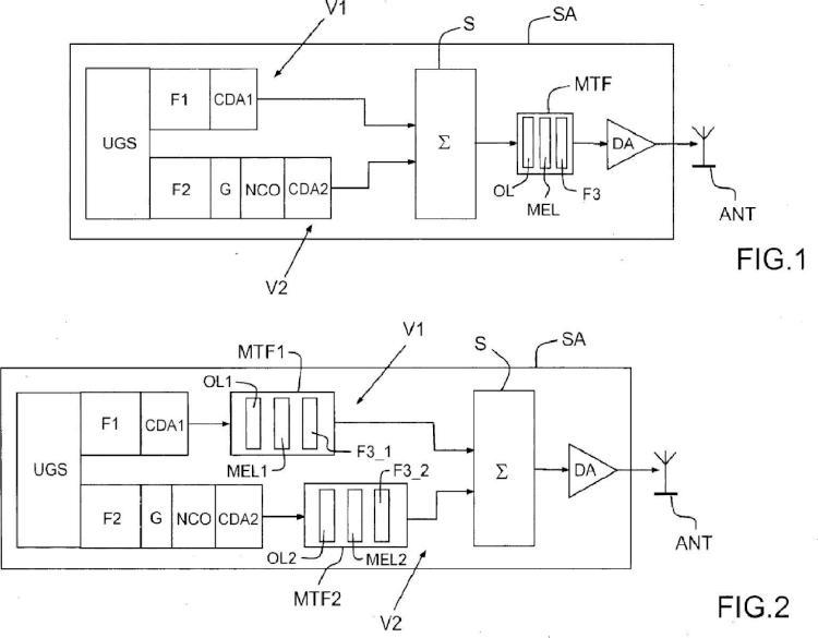 Sistema de amplificación de señales generadas por una unidad de generación de señales de un satélite.