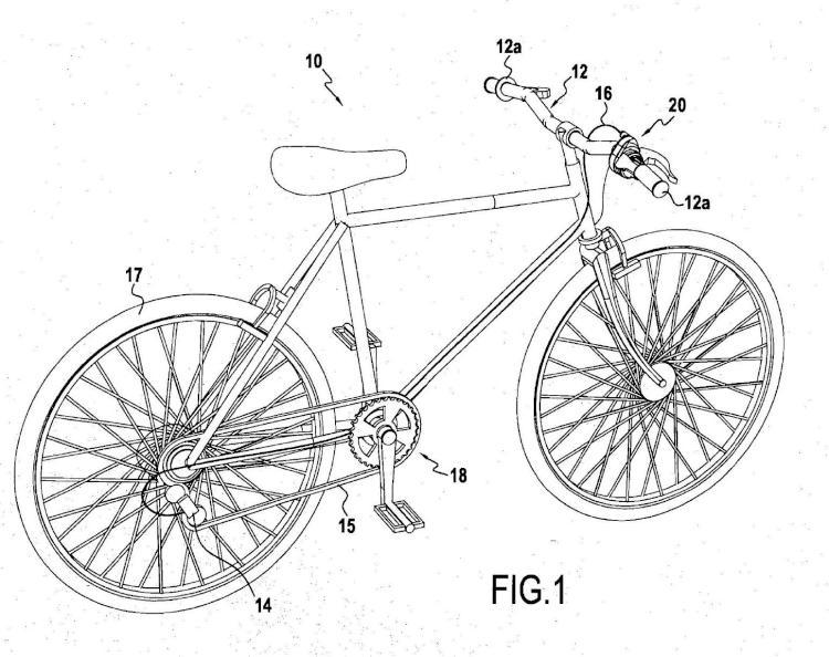 Palanca de cambio de velocidades secuencial para bicicletas.