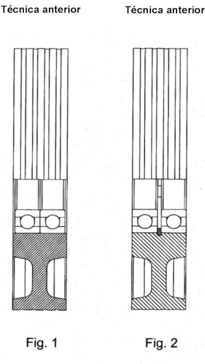 Método de instalación de un doble cojinete en una pieza moldeada y rueda que comprende un doble cojinete.