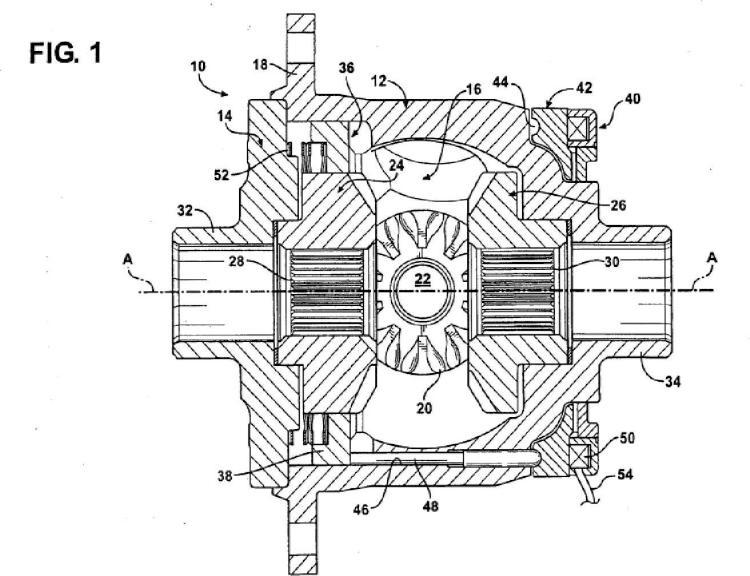 Diferencial de bloqueo controlado electrónicamente provisto de un mazo de conductores de cables de control lógico.
