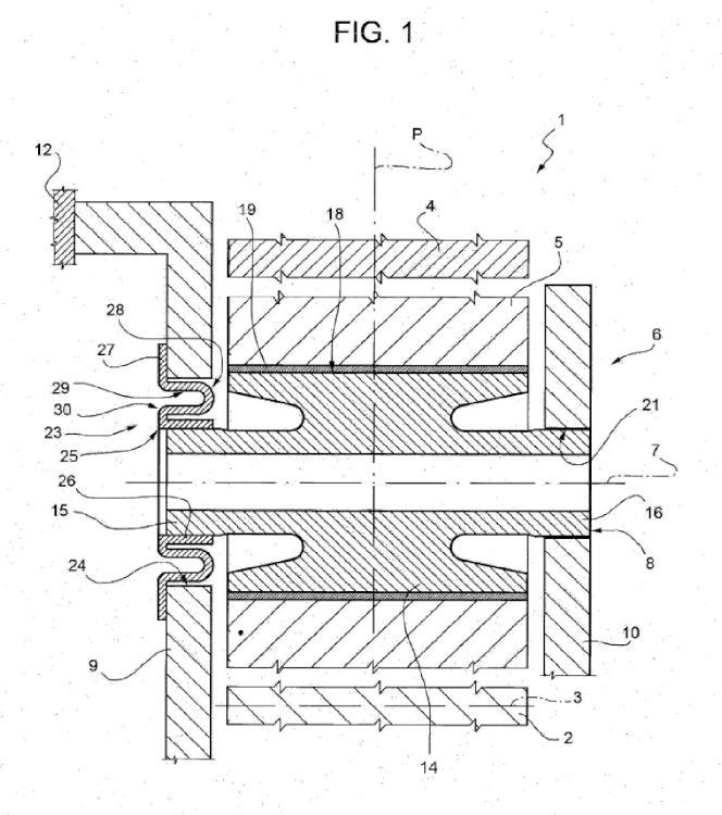 Sistema de engranaje epicicloidal.