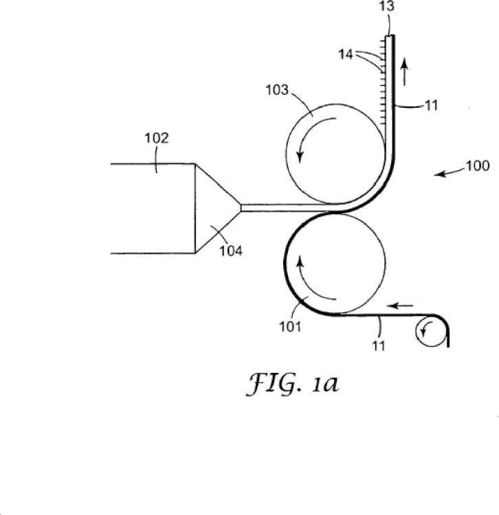 Métodos de fabricación de un laminado estirado en forma de banda mediante fijaciones mecánicas.