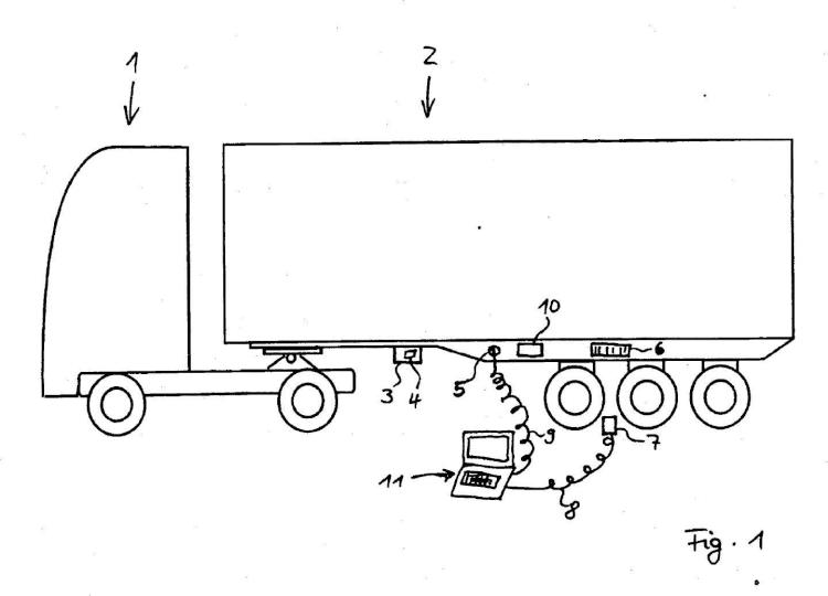 Remolque de vehículo utilitario con un sistema de frenado controlado electrónicamente.