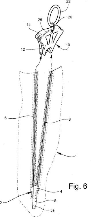 Ilustración 3 de la Galería de ilustraciones de Dispositivo para abrir y cerrar una cremallera