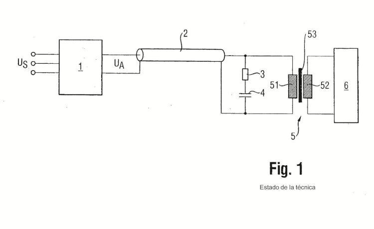 Modulador de alta tensión con transformador.