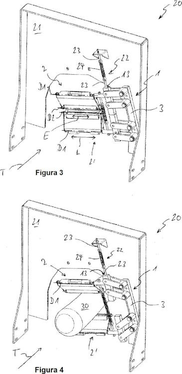 Unidad de cuchilla para pelar material a pelar alargado.