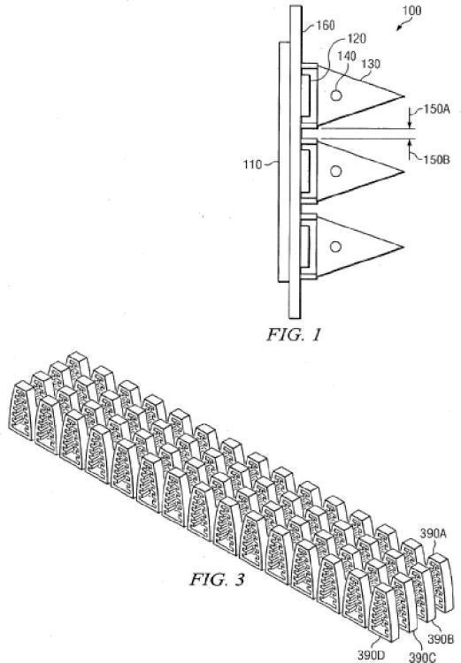 Una estructura de antena integrada con un canal de refrigeración incorporado.