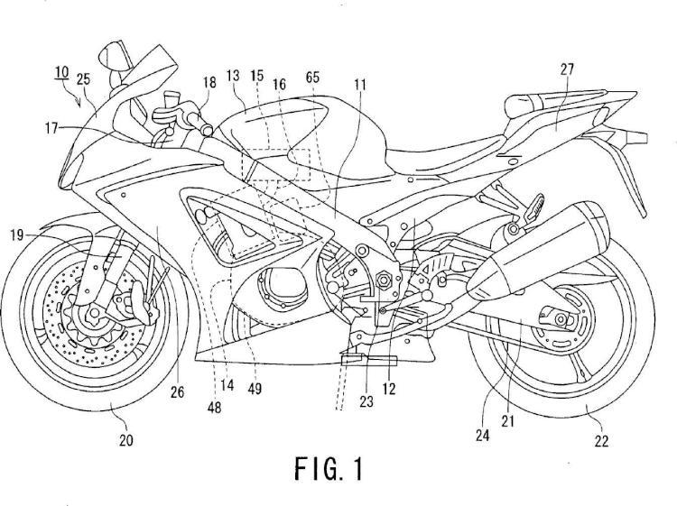 Dispositivo de bote para motocicleta.