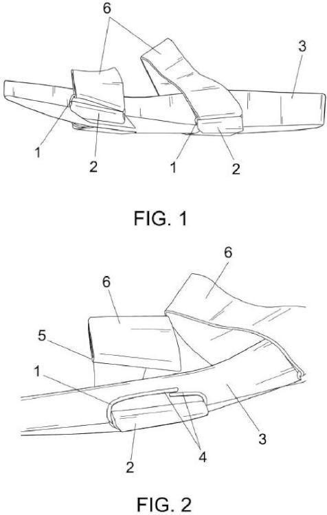 Dispositivo para la intercambiabilidad de tiras de sandalias.