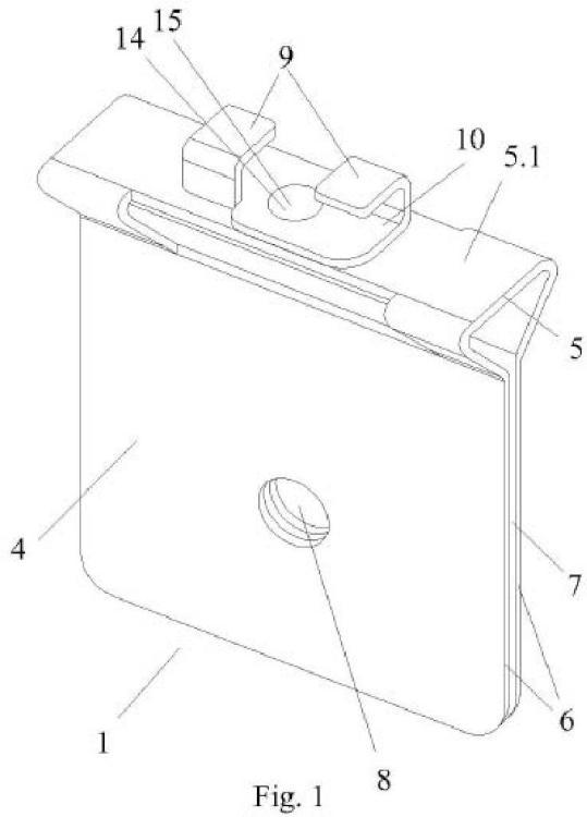 Soporte para acoplamiento de accesorios en bandejas portacables y procedimiento de fijación del mismo.