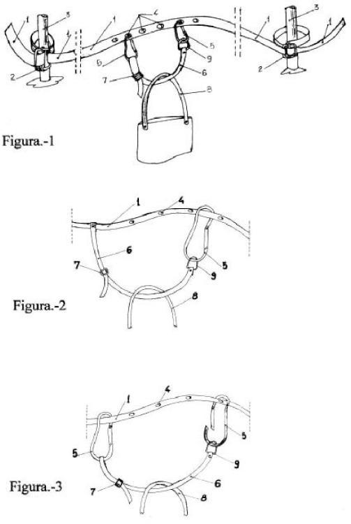 Utensilio porta-bolsas accesorio para motocicletas tipo scooter.