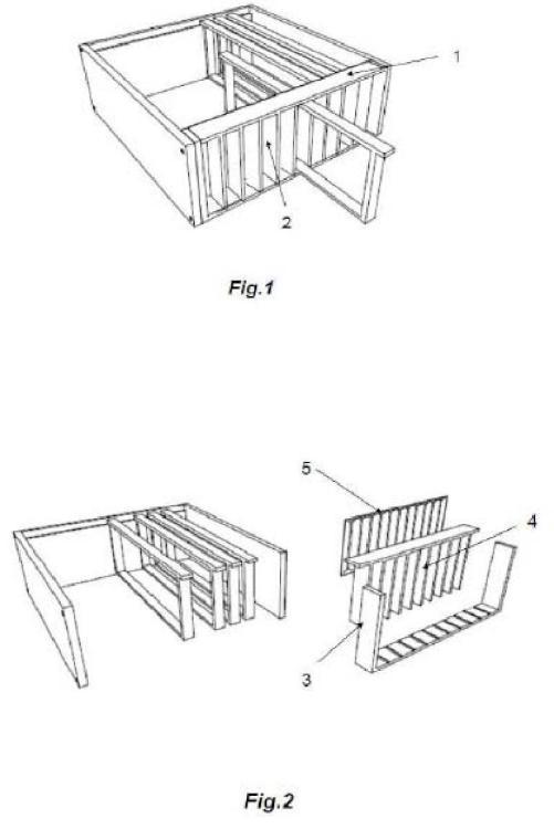 Colmena o alza de colmena para movilizar cuadros sin tener que abrirla o desmontarla por sus partes.