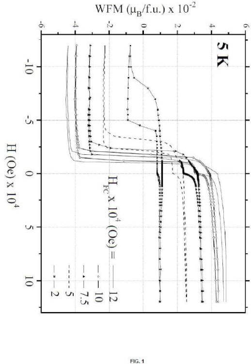Nuevos compuestos con valores colosales del campo del fenómeno de desplazamiento de los ciclos de histéresis, procedimiento de obtención y sus usos.