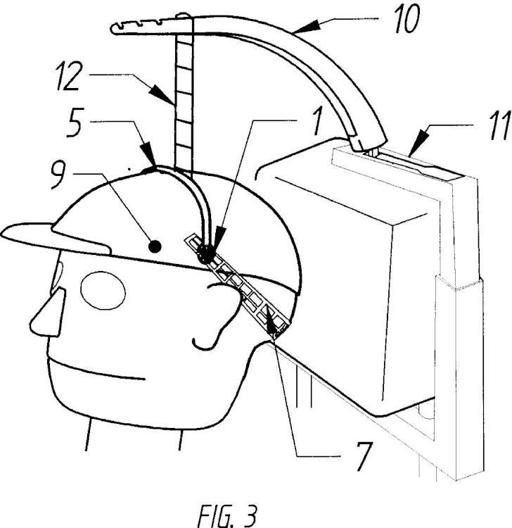 Distribuidor radial de tensión para dispositivos colgantes de sujeción vertical de la cabeza sin apoyo mandibular.