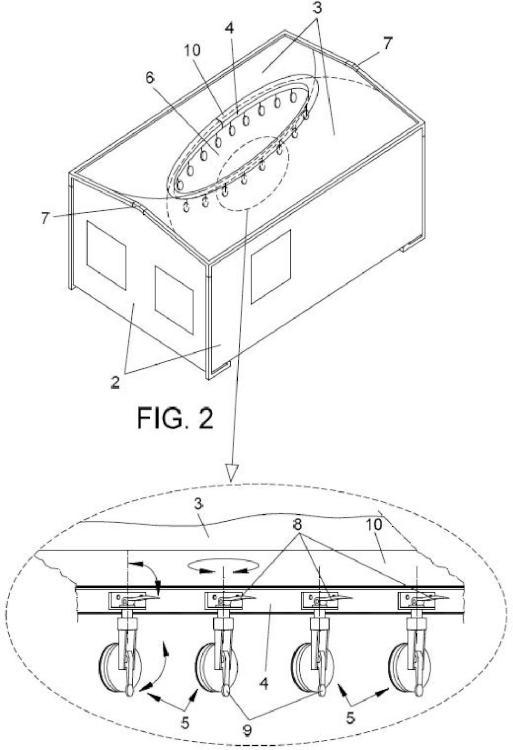 Dispositivo protector de plataformas de elevacion para mantenimiento de aerogeneradores.