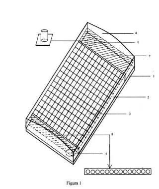 Captador solar para calefacción.
