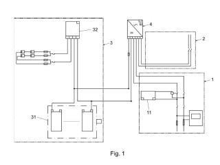 Instalación eléctrica asistida con distribuidor automático de entrada selectiva.