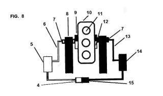 Sistema para movimiento circular de una noria por desplazamientos de su carga.