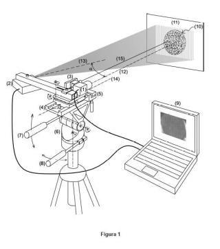 Dispositivo portátil para la medida de mapas de desplazamientos de superficies en las tres direcciones espaciales.