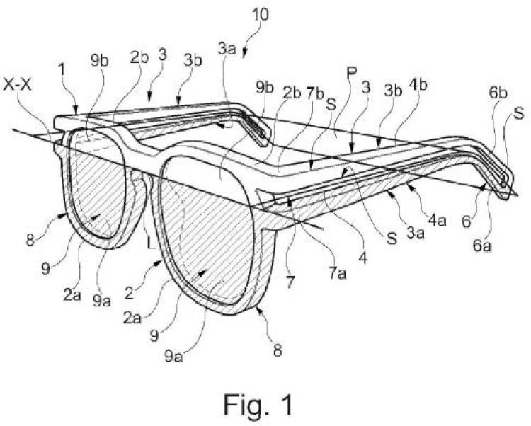 Montura para gafas y gafas con dicha montura.