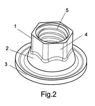 Método de fabricación de una tuerca por embutición progresiva de un fleje laminar metálico y tuerca resultante.