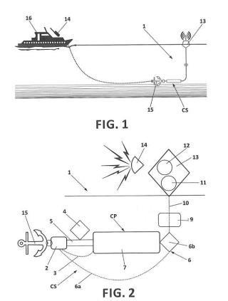 Dispositivo para la detección y advertencia de garreo del ancla de embarcaciones fondeadas, y procedimiento para dicha detección y advertencia.