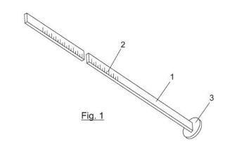 Dispositivo para medir el nivel de un fluido criogénico contenido en un recipiente.