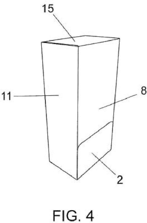 Caja con dispensador doble.