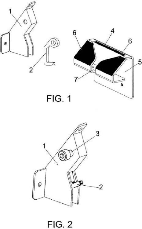Cerradura de gravedad con sistema de autocentrado de tapa en contenedores.