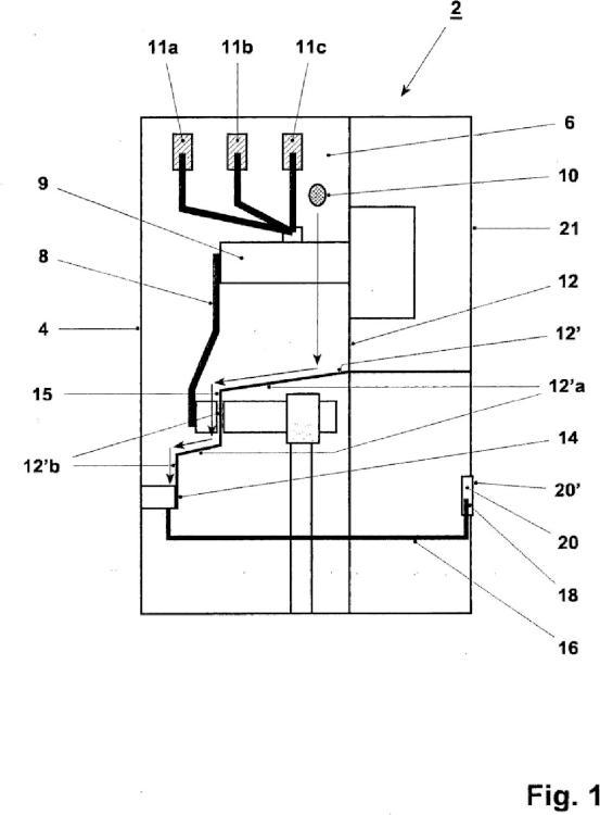 Conector de alimentación encapsulado.