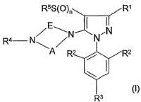 1-fenil-3-piperazin-pirazoles y composiciones pesticidas de los mismos.