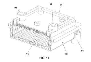Molde con cámara incorporada para la fabricación de piezas de espuma plástica.