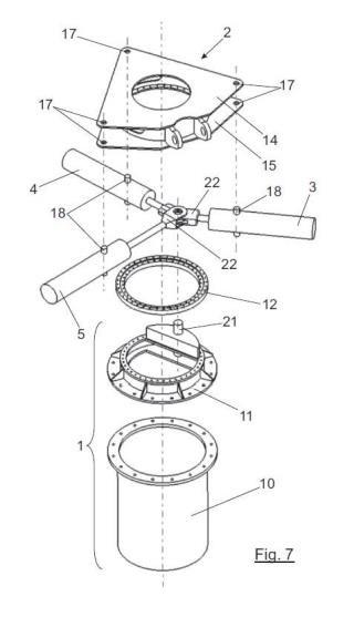 Mecanismo de giro azimutal para seguidores solares.