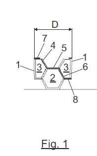 Mejoras relativas a un ladrillo cerámico con huecos hexagonales.