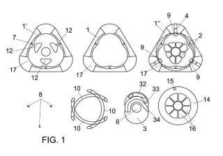 Motor rotativo de ciclo partido.