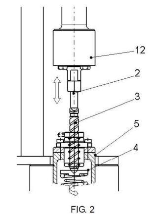 Dispositivo de presión de consigna variable con actuador electromecánico de empuje lineal.
