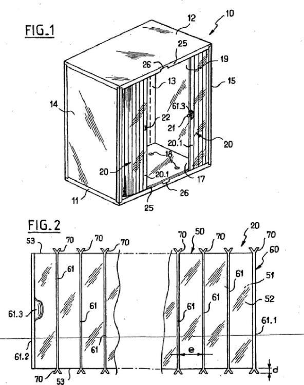 Armario de colocación en orden del tipo que comprende por lo menos una cortina de cierre deformable montada deslizante.